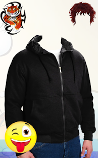 Men Sweatshirt Photo Montage:Sweatshirt Photo Suit - náhled