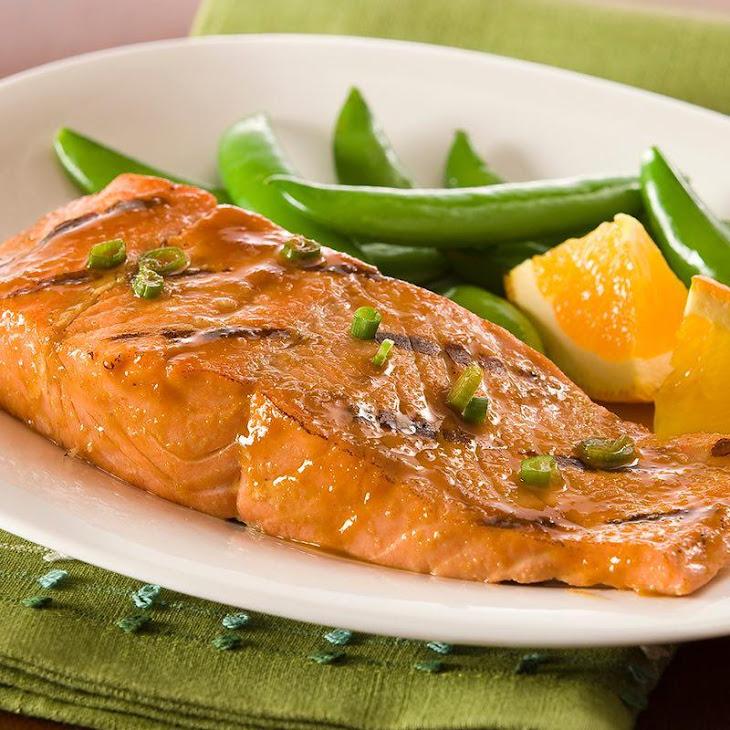 Ginger Honey Glazed Salmon