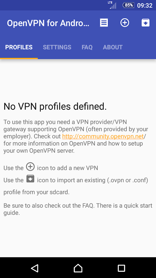OpenVPN for Android- screenshot