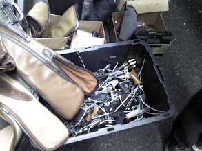 Photo: The bin with all the pistols zip tied after being turned in.
