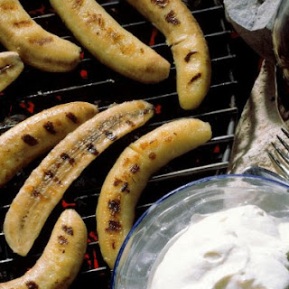 BBQ'd Bananas with Cream