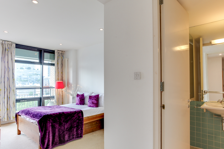 Luxury bedroom at Lexington Serviced Apartments, Old Street