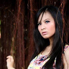 Girl in tree by Travis Borland - People Portraits of Women ( model, fashion, girl )