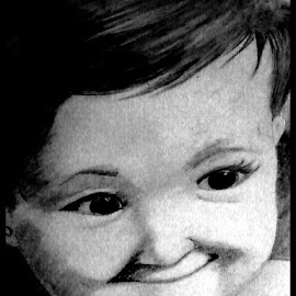 Smiling Baby by Sohan Bhar - Drawing All Drawing
