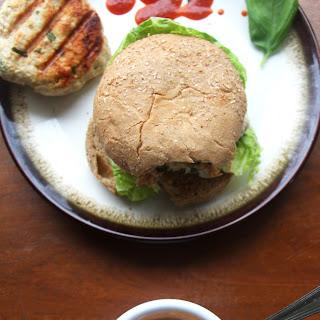 Thai-Style Chicken Burgers with Sriracha Sesame Mayo.