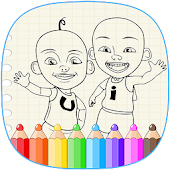 Coloring Upinipin - Painting Drawings for kids