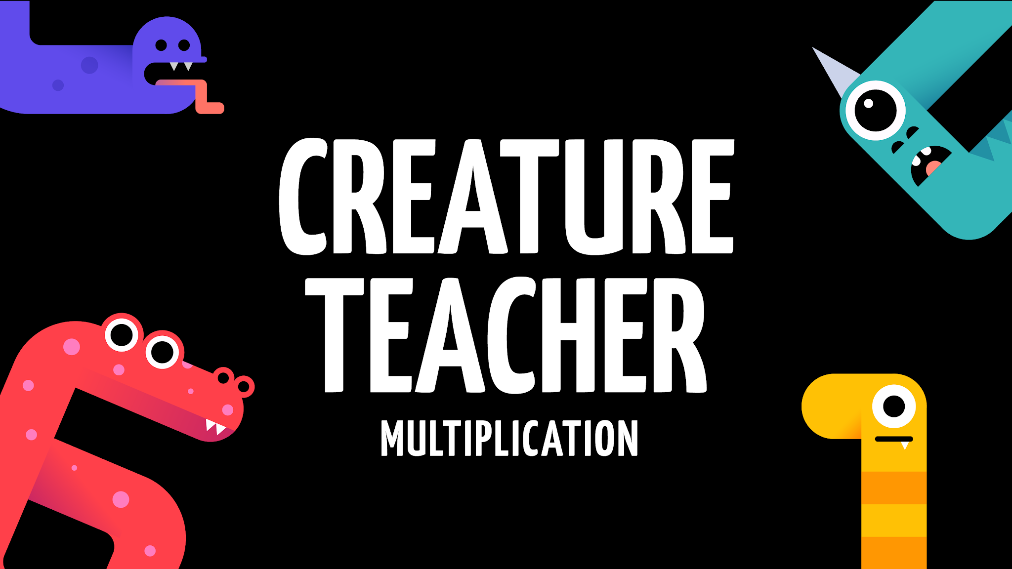 "Illustration titled ""Creature Teacher Multiplication"""