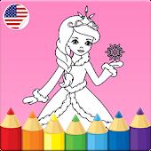 Kids coloring book: Princess