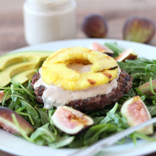 Pineapple Burger Bowl with Sweet Fig Mayonnaise