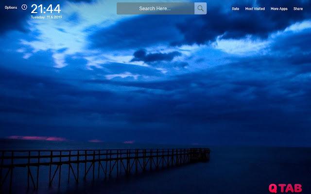 Dark Blue Wallpapers HD Theme