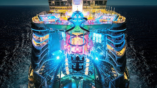 oasis-class-ships-at-night.jpg - There's something to do around the clock on a Royal Caribbean smartship.