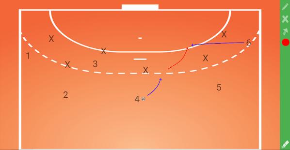 CoachIdeas - HandBall Tactics Board - náhled