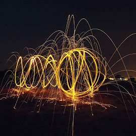 Light trails by Kamal Mp - Abstract Light Painting ( wander, camping, night, travel, wool, photography, destination )