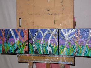 Photo: Dusk At Falls Creek Triptych Oil 90cmx25cm $60