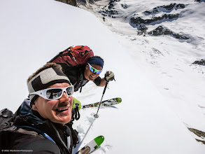 Photo: Happy crew! We still had 1300 meters vertical of spring skiing to La Fouly