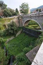 """Photo: """"Ponte Gregoriano"""" going over the Aniene river in Tivoli, Lazio, Italy"""