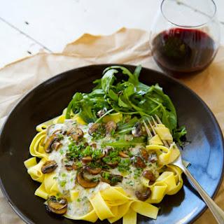 Mushroom and Herb Pasta with Cashew Cream Sauce