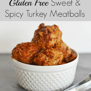 Sweet and Spicy Crock Pot Turkey Meatballs.