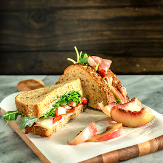 Nectarine, Roasted Pepper and Ham Sandwich