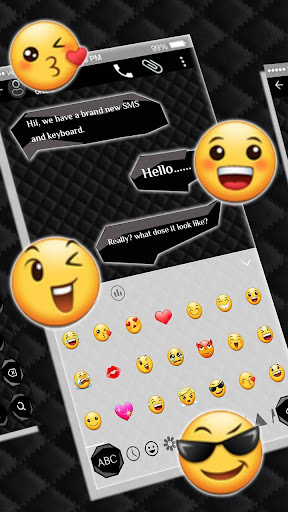 SMS Black Keyboard 10001004 screenshots 2
