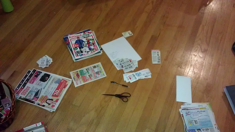 Photo: First, I clip all my coupons and gather the ones I can use for the items on my list.