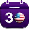 USA Holidays Calendar - All in One Planner Notepad icon