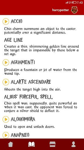 Spells Book & Quiz Harry Potter 14.2 screenshots 3