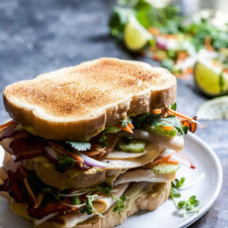 Thai Turkey Bacon Stack with Green Curry Mayo.