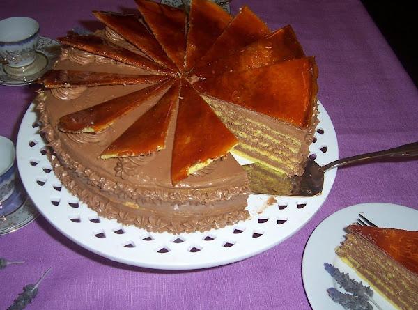 Dobos Torte (hungarian Drum Cake) Recipe