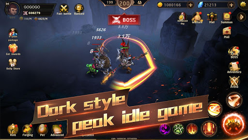 Hunter Legend : Chaos dungeons - Idle RPG screenshots 8