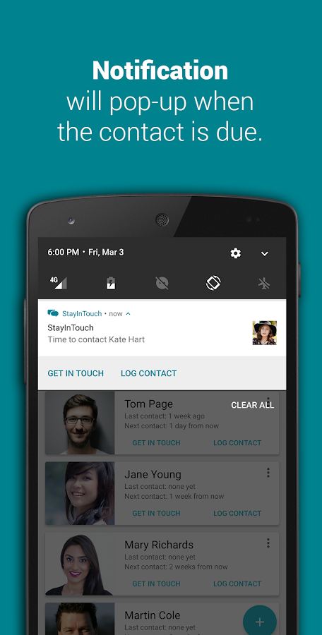Smart Contact Reminder: Call, messages- screenshot