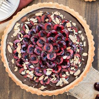 Chocolate Cherry Tart (Gluten Free, Paleo + Vegan)