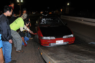 """Photo: It was a real struggle to get this car on the """"tow truck,"""" but Jamie Texeira's efforts paid off."""