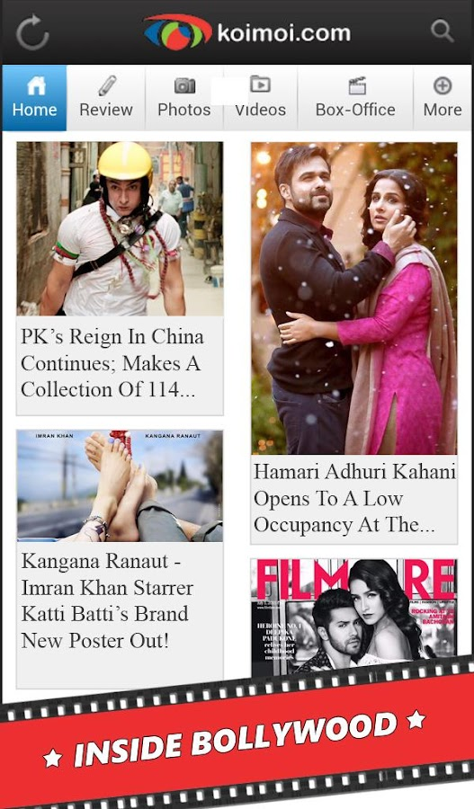Bollywood News Reviews Videos - screenshot
