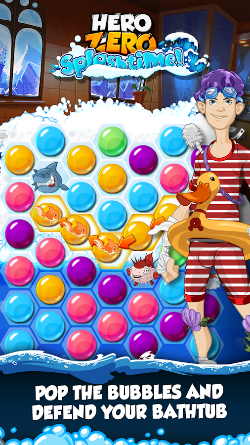 Hero Zero Splashtime - Puzzle- screenshot