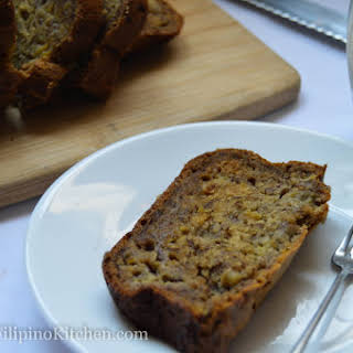 Easy Moist and Dense Banana Bread.