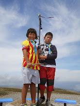 Photo: La Dana (C/F) i l'Aidin (LL/D) al cim del Pedró dels Quatre Batlles (2.383m)