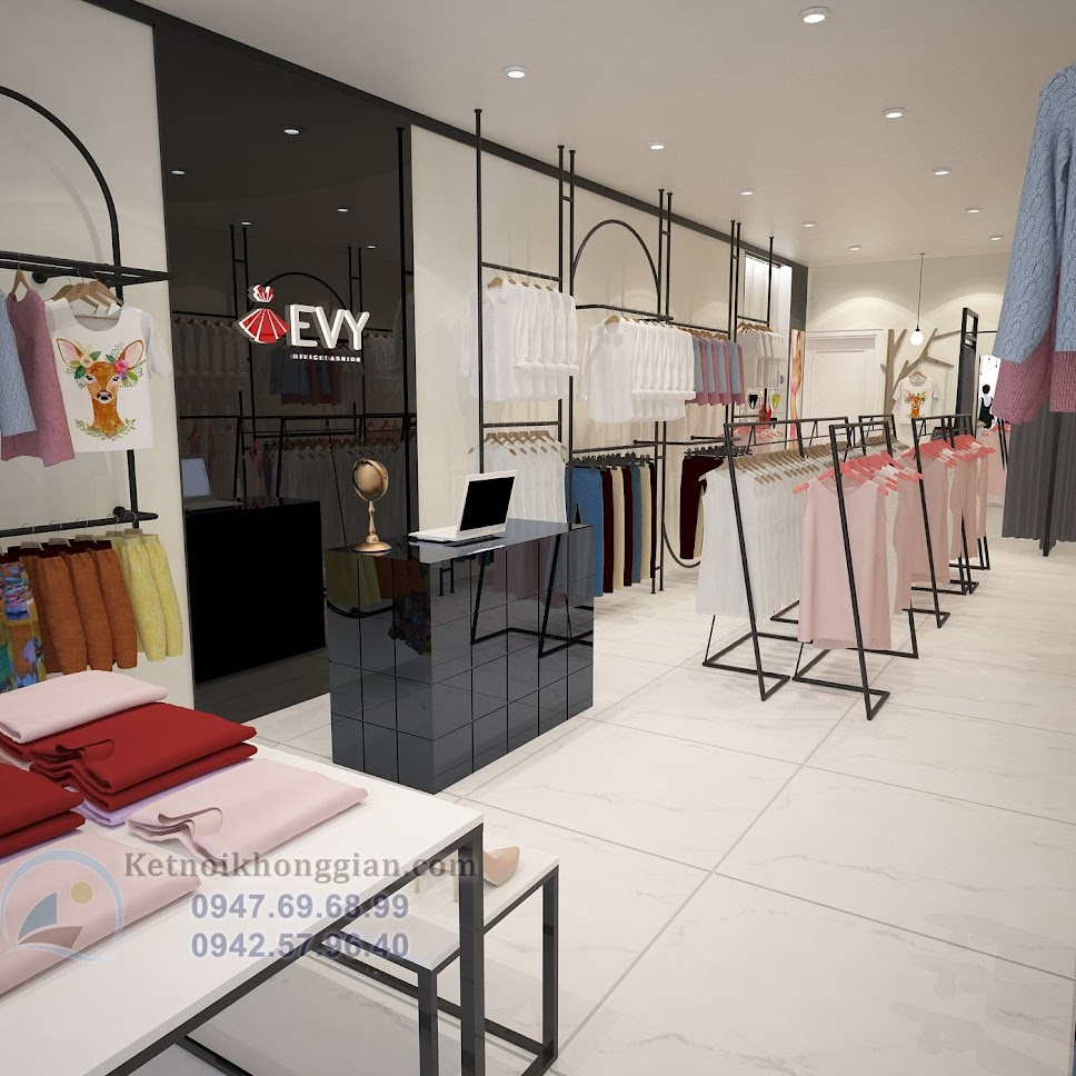 thiết kế shop thời trang hiện đại 3