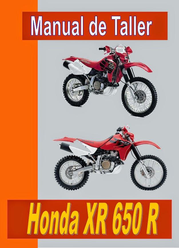 honda xr 650 r   manual taller - servicio- mecanica y despiece