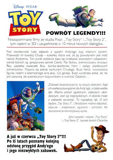 Tył ulotki filmu 'Toy Story 3D'