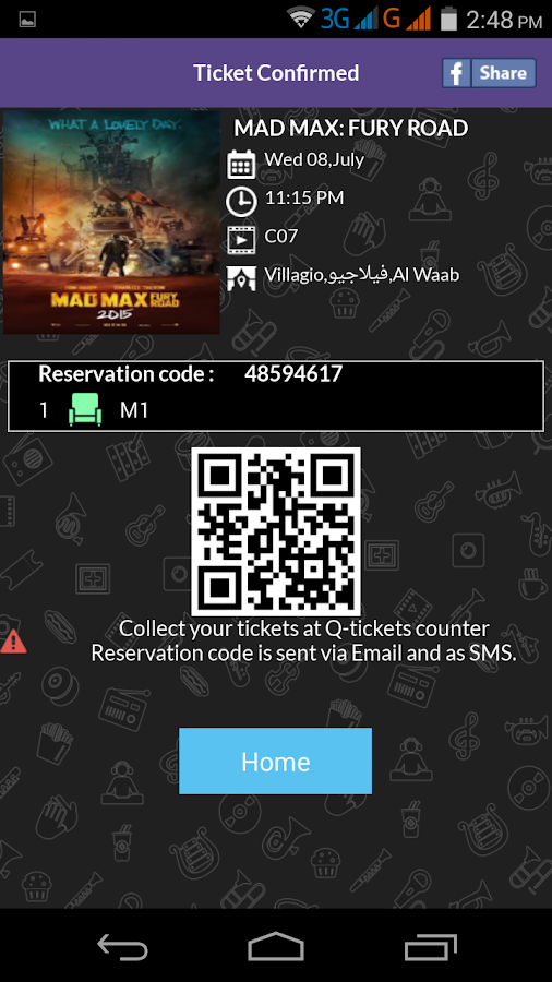 QTickets- screenshot