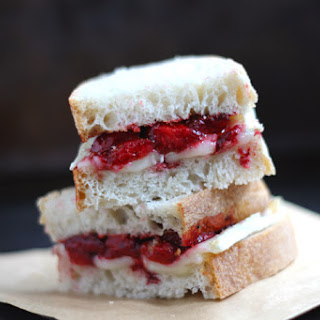 Roasted Strawberry and Brie Melted Sandwich