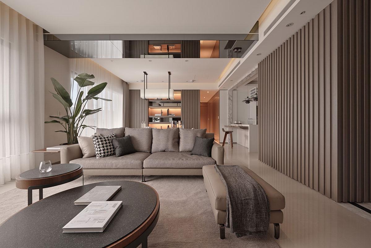 Elemen 'garis' pada desain interior - source: home-designing.com
