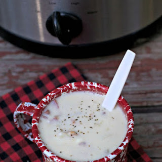Easy Slow Cooker Clam Chowder.
