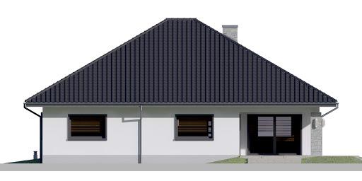 Dom przy Rubinowej 5 bis - Elewacja tylna