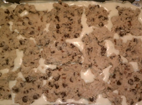 Take remaining dough and press into manageable rounds and place gently on top of...