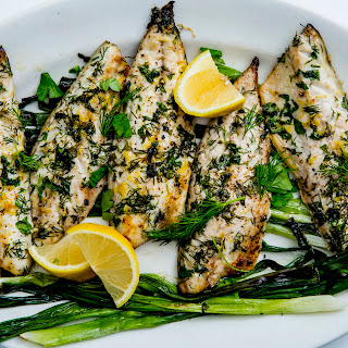 Broiled Mackerel with Scallions and Lemon