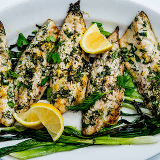 Broiled Mackerel with Scallions and Lemon.