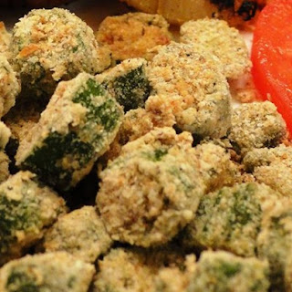 Oven Fried Okra.