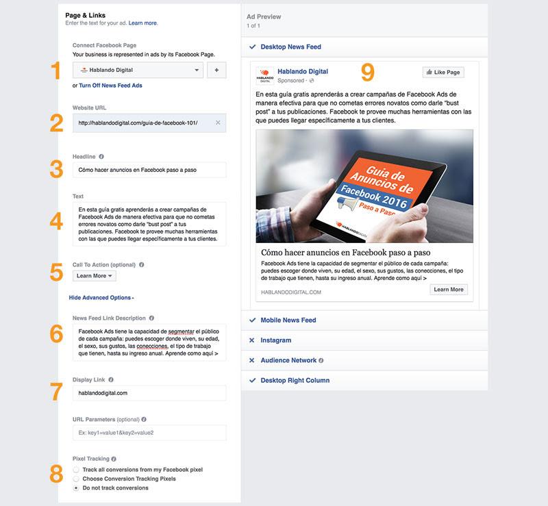 Como hacer una buena campaña de clic a página web en Facebook